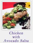 Chicken with Avocado Salsa
