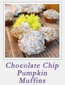 Chocolate Chip Pumpkin Muffins | 2 Cookin Mamas