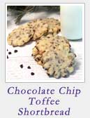 Chocolate Chip Toffee Shortbread