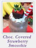 Chocolate Covered Strawberry Smoothie | 2 Cookin Mamas