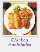 Creamy Chicken Enchiladas | 2 Cookin Mamas