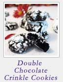 Double Chocolate Crinkle Cookies | 2 Cookin Mamas