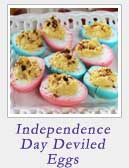 Independence Day Deviled Eggs