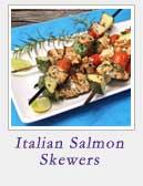 Italian Salmon Skewers