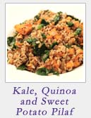 Kale Quinoa and Sweet Potato Pilaf