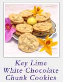 Key Lime White Chocolate Chunk Cookies|2CookinMamas