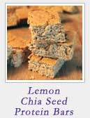 Lemon Chia Seed Protein Bars