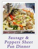 Sausage and Peppers Sheet Pan Dinner | 2 Cookin Mamas