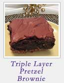 Triple Layer Pretzel Brownie