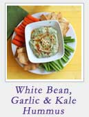 White Bean Garlic Kale Hummus