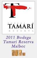 2011 Bodega Tamari Reserva Malbec