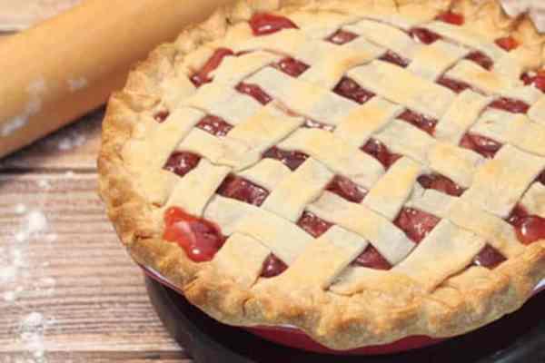 Cherry Pie closeup 2   2 Cookin Mamas