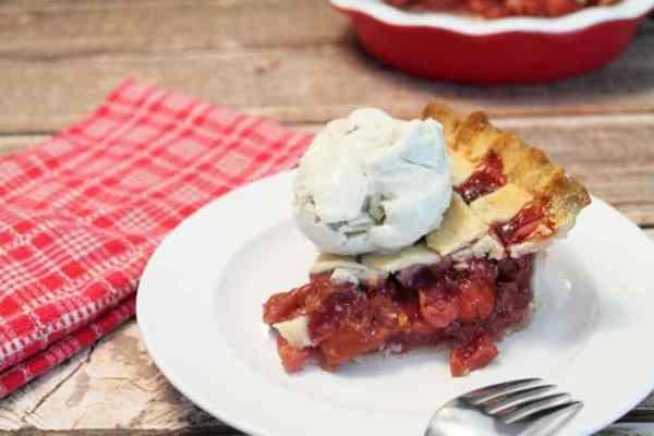Cherry Pie slice 2   2 Cookin Mamas