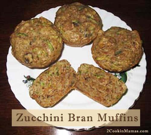 Zucchini Bran Muffins  2CookinMamas