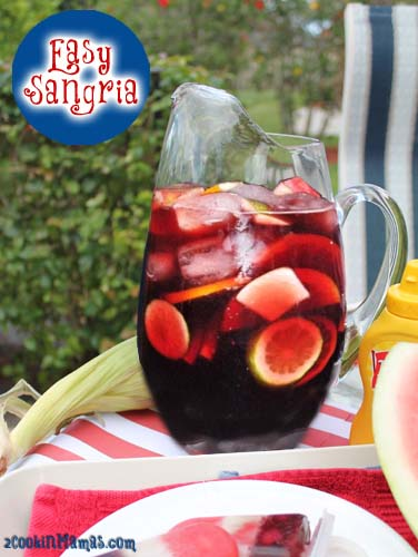 Easy Sangria for Memorial Day