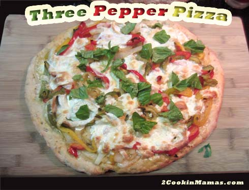 Three Pepper Pizza | 2CookinMamas