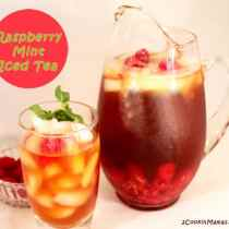 Raspberry Mint Iced Tea | 2CookinMamas