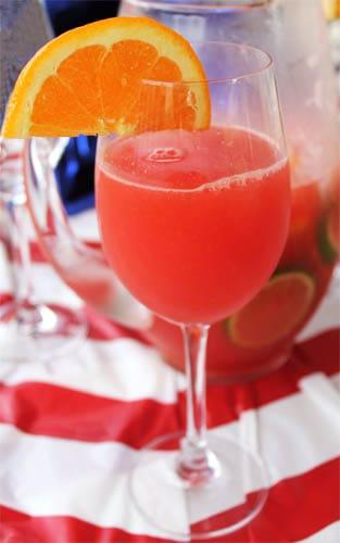 Watermelon Sangria single glass | 2CookinMamas
