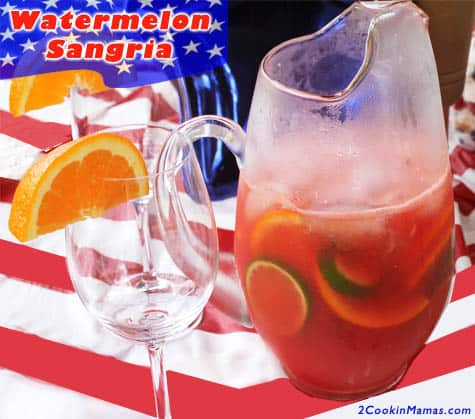 Watermelon Sangria | 2CookinMamas