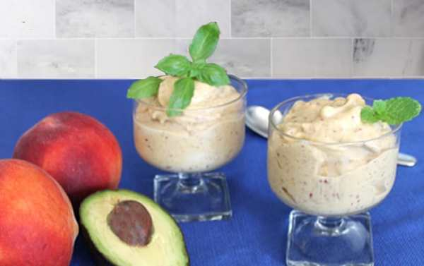 Healthy Peach Ice Cream 1 | 2 Cookin Mamas