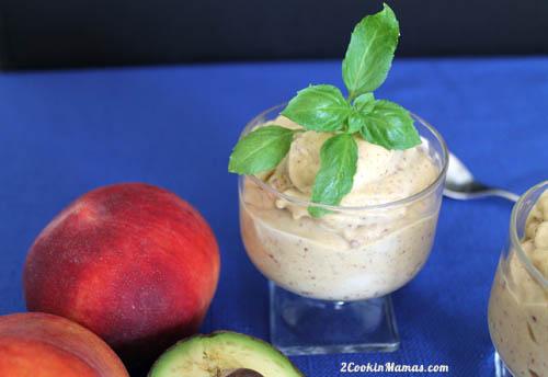 Healthy Peach Ice Cream 1 | 2CookinMamas