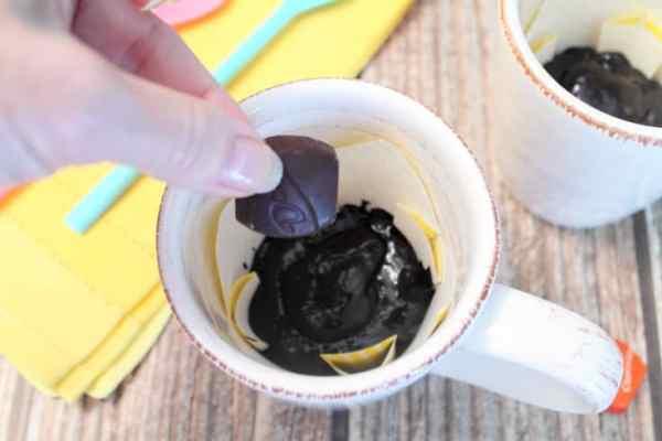Chocolate Lava Mug Cake prep | 2 Cookin Mamas