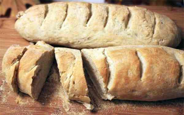 Easy French Bread sliced | 2 Cookin Mamas