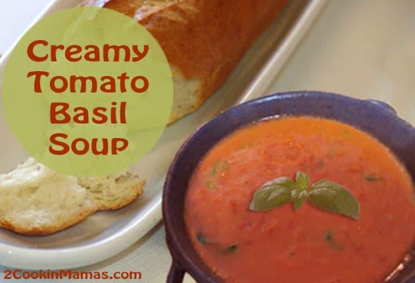 Tomato Basil Soup | 2CookinMamas