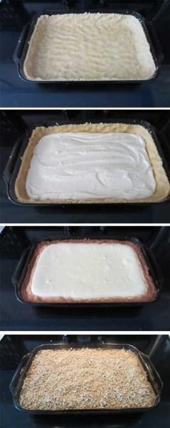 creme brulee cheesecake bars steps