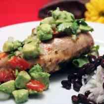Chicken with Avocado Salsa close up | 2CookinMamas