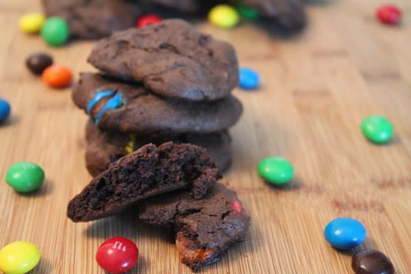 Chocolate Candy Cookies close up | 2CookinMamas