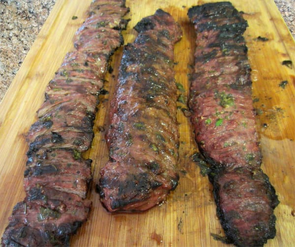 Skirt Steak with Chimichurri Sauce grilled | 2CookinMamas