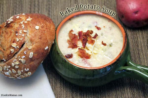 Baked Potato Soup | 2CookinMamas