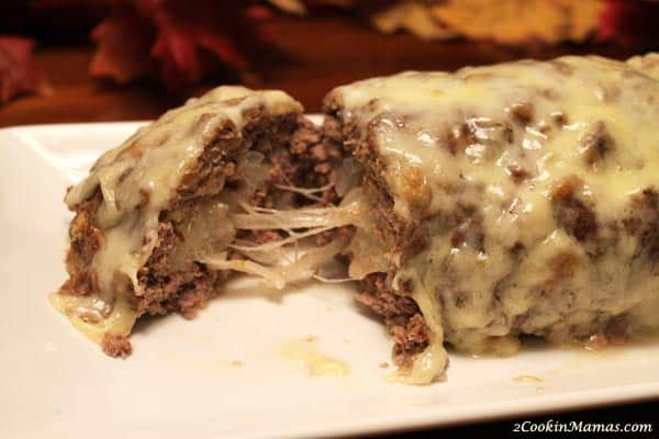 Patty Melt Meatloaf close up | 2CookinMamas
