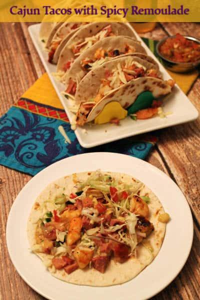 Cajun Tacos with Spicy Remoulade | 2CookinMamas
