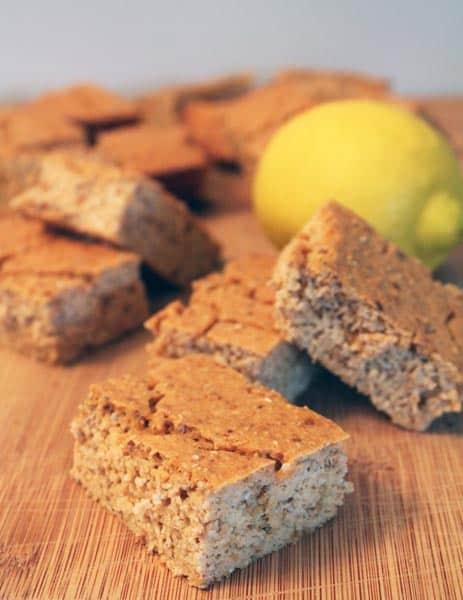 Lemon Chia Seed Protein Bars 1   2CookinMamas
