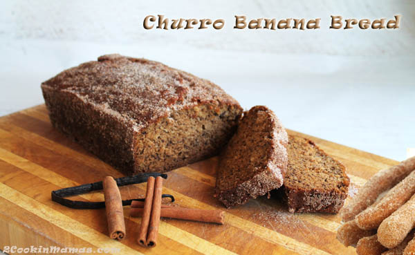 Churro Banana Bread main | 2CookinMamas