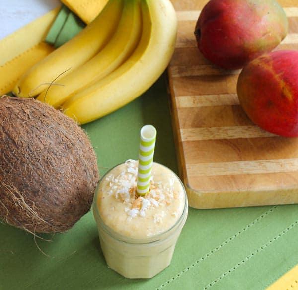 Coconut Mango Smoothie 4 | 2CookinMamas