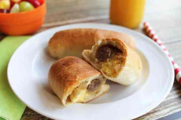 Breakfast Kolaches close up   2 Cookin Mamas