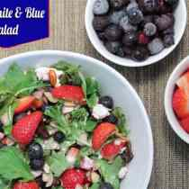 Red White and Blue Salad main | 2CookinMamas