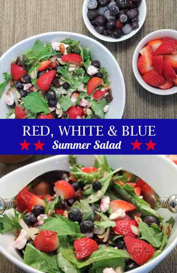 Red White and Blue Salad pin | 2CookinMamas