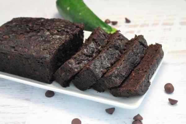 Double Chocolate Zucchini Bread sliced|2CookinMamas