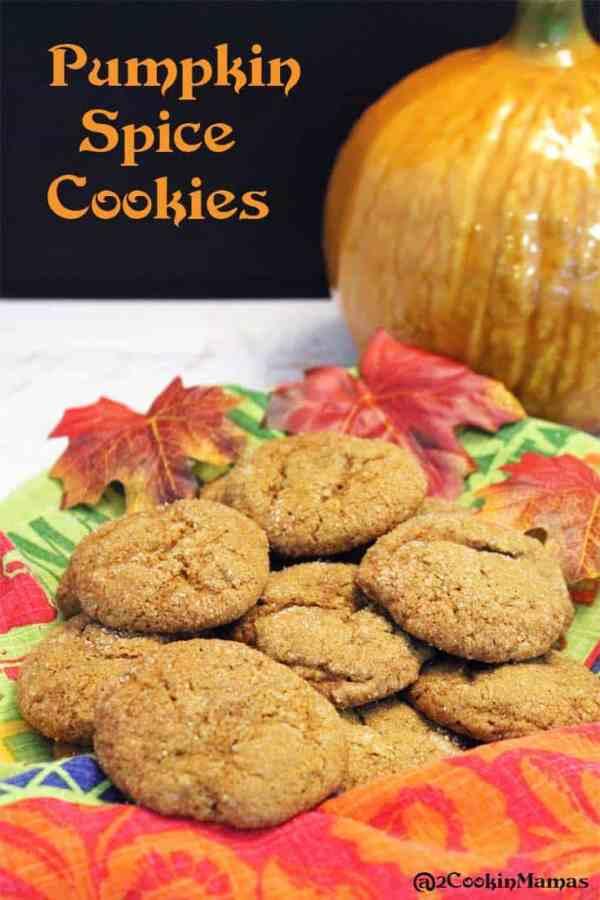 Pumpkin Spice Cookies | 2CookinMamas