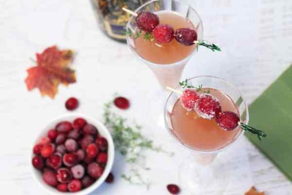 Cranberry Mimosas overhead|2CookinMamas