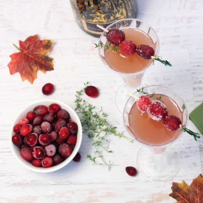 Cranberry Mimosas - A Holiday Cocktail