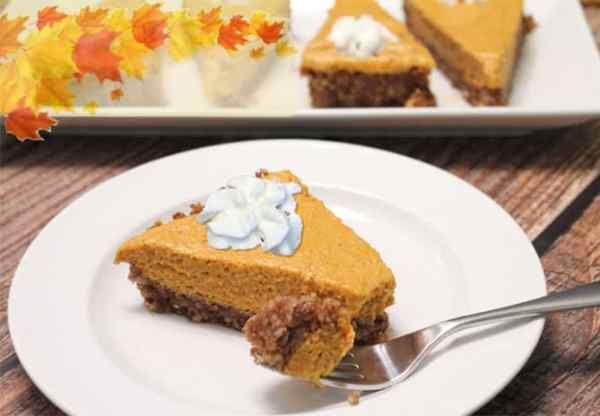 Pumpkin Chiffon Tart plated|2CookinMamas