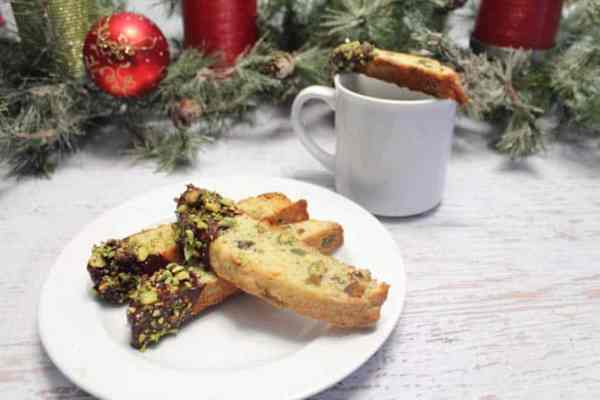Orange Pistachio Biscotti with coffee2|2CookinMamas
