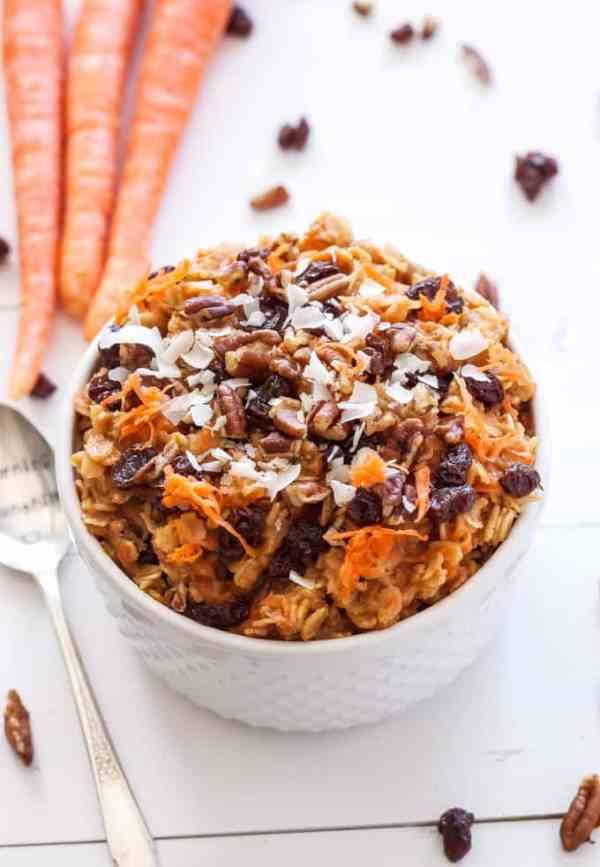 Carrot Cake Oatmeal from Recipe Runner