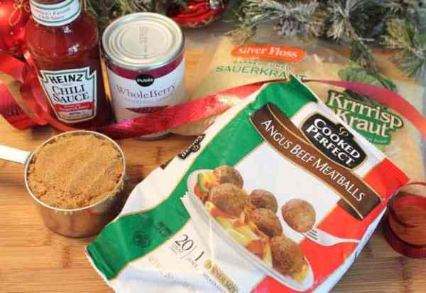 Crockpot Cocktail Meatballs ingredients|2CookinMamas