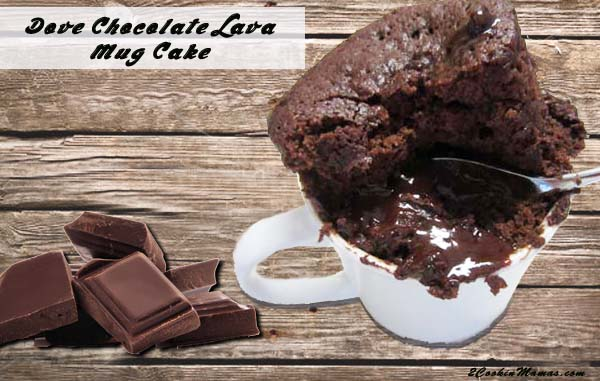 Dove Chocolate Lava Mug Cake FB|2CookinMamas